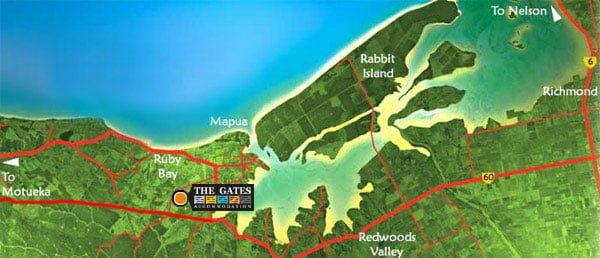 Location The Gates Accommodation Mapua Nelson New Zealand The