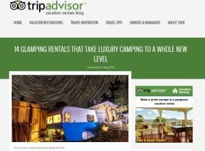 TripAdvisor screen grab 14 top glamping sites